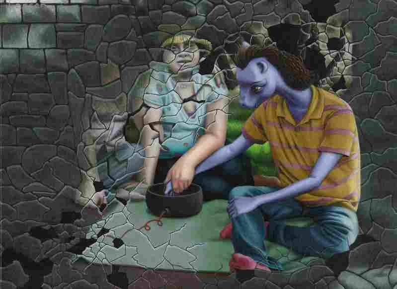 Acting Peculiar, 30 x 40 cm, oil on canvas