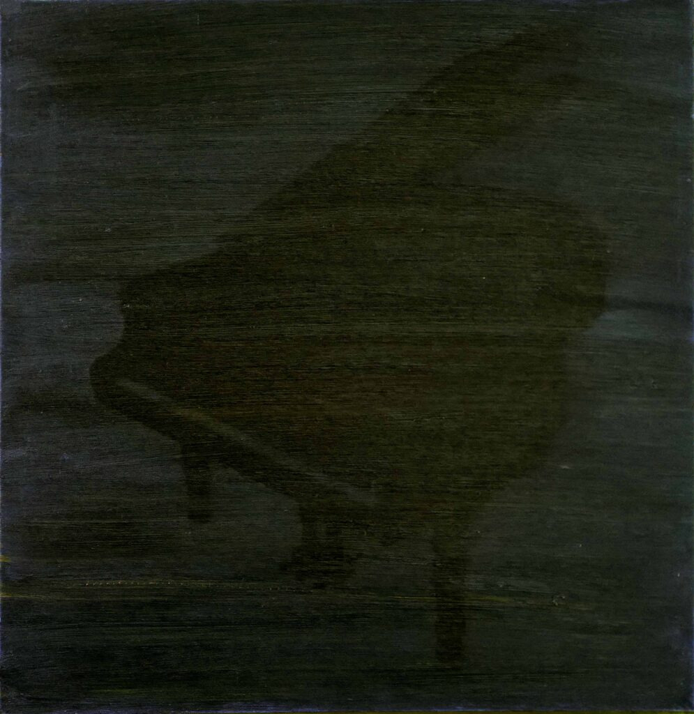 Robert Suermondt, Piano noir, 1992, oil on canvas, 59 x 56 cm