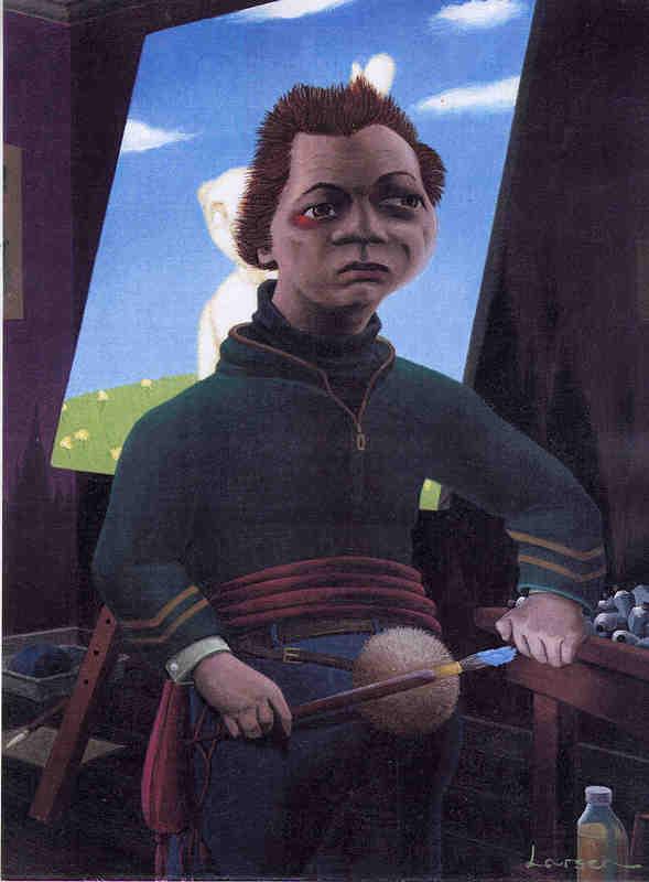 Mr. Backward-Forwards, 40 x 30 cm, oil on canvas
